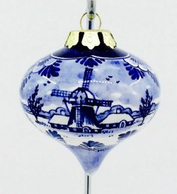 Delft Blue Christmas Ornaments
